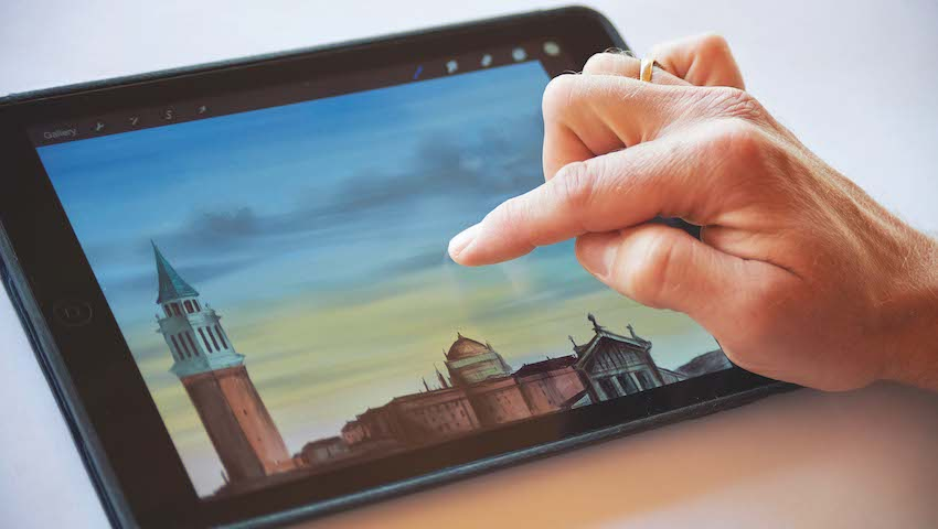Education and Training Courses Painting on Your iPad